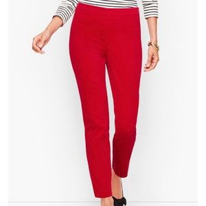🆕 NEW Talbots Red Italian Stretch Ankle Pant 14